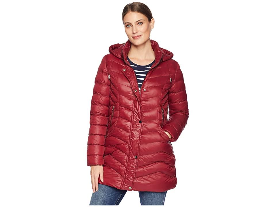 Tribal Softshell Puffer Jacket with Removable Hood (Zinfandel) Women
