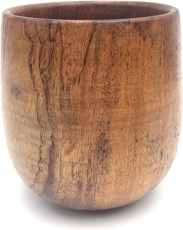 Islandoffer Japanese Wooden Tea Cup 4 Oz 120 ML