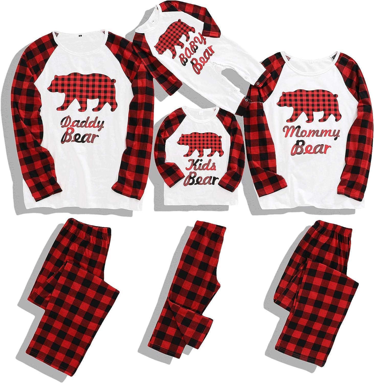 Matching Family Pajamas Set Christmas Pants Cotton Pjs Set Bear Pajamas for Family