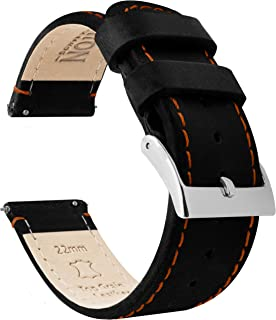 Leather Quick Release Watch Strap - Top Grain Leather - Soft Leather Lining - Choice of Color & Width - 16mm, 18mm, 19mm, 20mm, 21mm 22mm, 23mm or 24mm