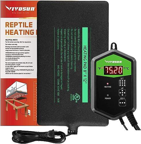 VIVOSUN Reptile Heat Mat and Digital Thermostat Combo