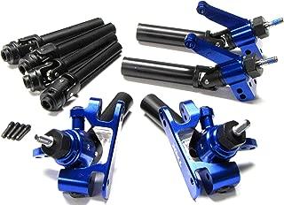Traxxas SLASH ULTIMATE BLUE ALUMINUM C-HUBS AXLES F/R Shafts Platinum 4x4 6804r