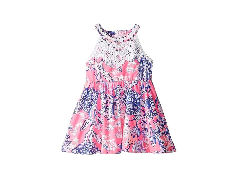 Lilly Pulitzer Kids Little Kinley Dress (Toddler/Little Kids/Big Kids) (Pink Tropics Sun Drenched) Girl