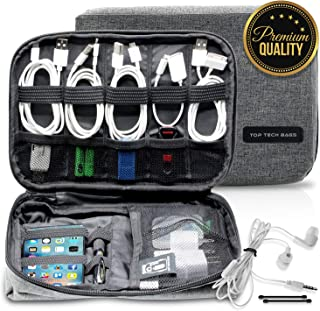Top Tech Bags Gadget Organizer Bag – Tough & Durable Storage Case for Phones, Cables, Devices, Chargers, Hard Drives – Multipurpose and Spacious, Ideal for Daily Use – Great as A Gift