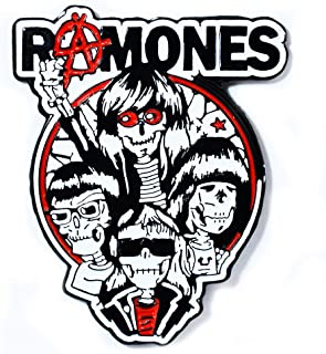 The Ramones Punk Skeleton Band Art Collectible Pendant Lapel Hat Pin