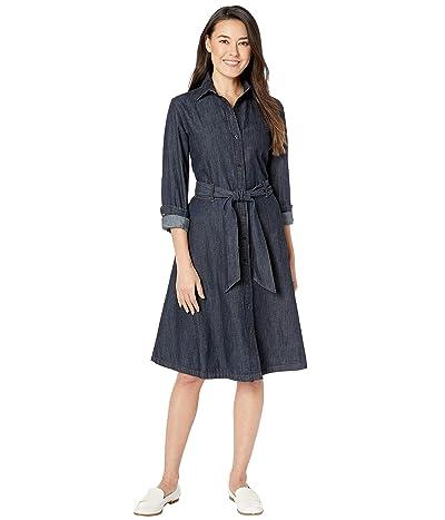 LAUREN Ralph Lauren Petite Denim Shirtdress (Dark Rinse Wash) Women