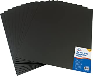 Alvin PB1620-10 Black on Black Presentation Boards 16 inches x 20 inches (Retail Pack)