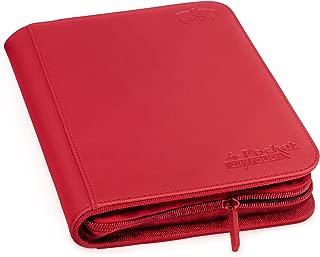 Ultimate Guard 4-Pocket ZipFolio, XenoSkin, Red
