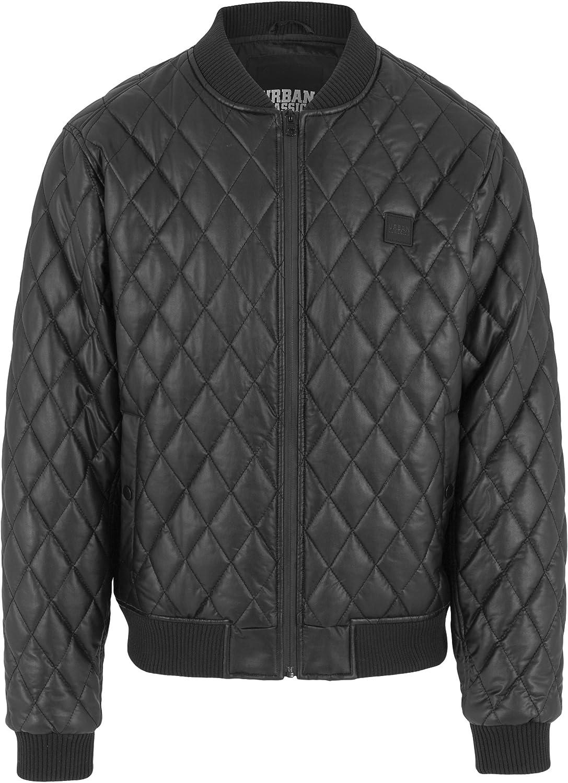 Urban Classics - Diamond Quilt Faux Leather Jacket