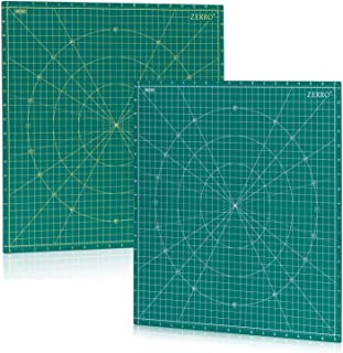 "ZERRO Self Healing Rotary Cutting Mat Double Sided 5-Ply 18"" x 18"" (17"" Grid) for Quilting, Sewing…"