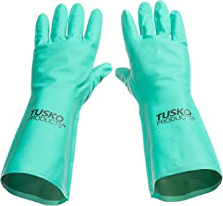 Tusko Products Best Nitrile Rubber Cleaning, Household, Dishwashing Gloves, Latex Free, Vinyl Free, Small