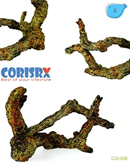 Corisrx Driftwood for Aquarium Decoration Freshwater Fish Tank Plant Shrimp Decor