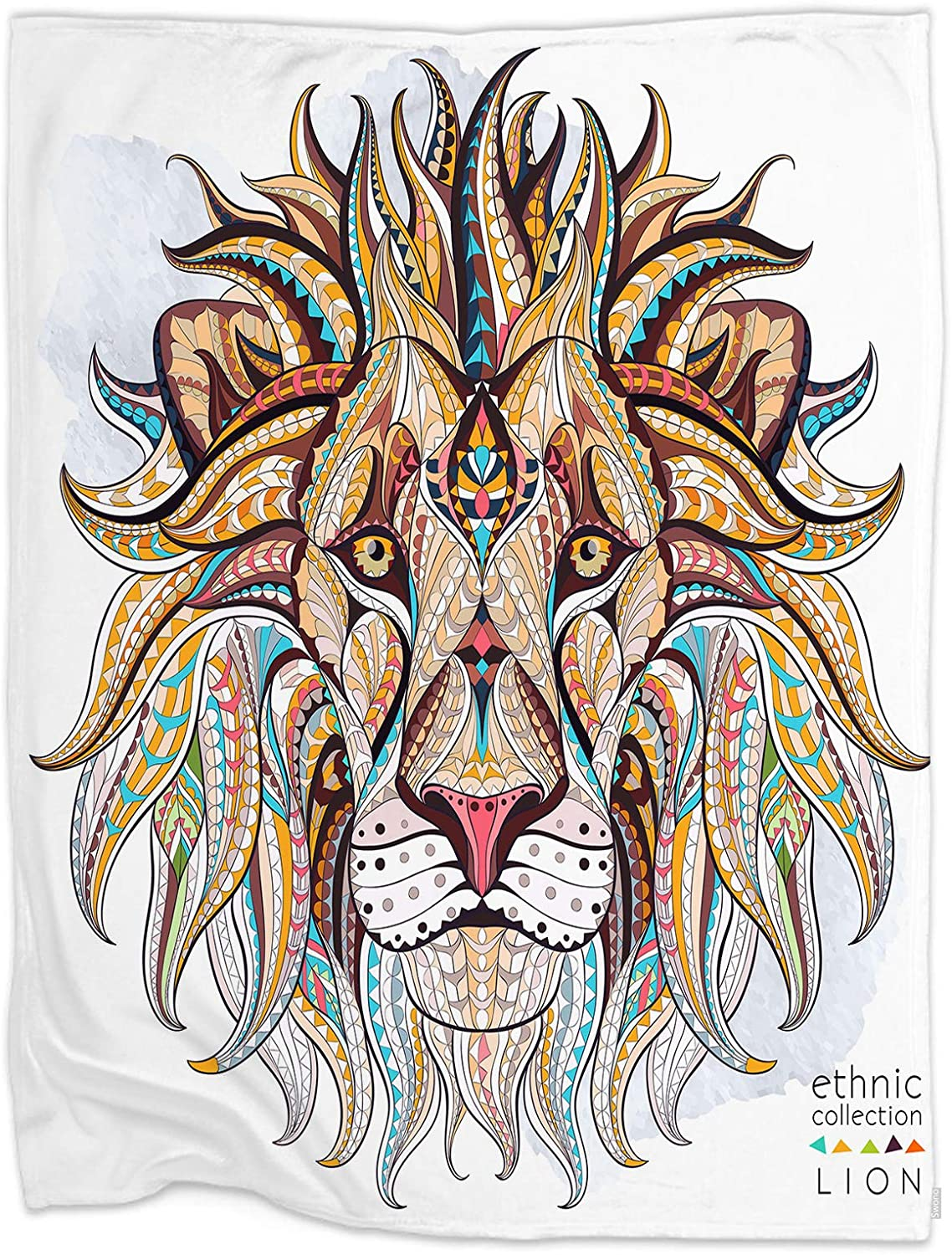 Swono Lion Throw National uniform free shipping Blanket African Ethnic Ornament Free shipping / New Head The Lio of