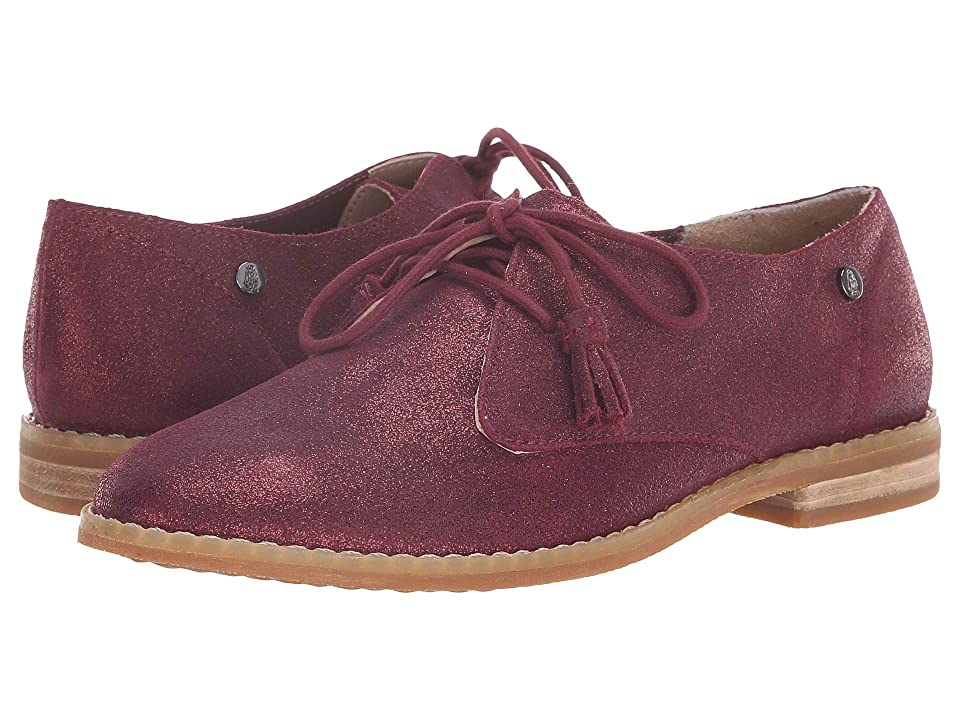 Hush Puppies Chardon Oxford (Burgundy Metallic Suede) Women