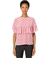 RED VALENTINO - Double Georgette Blouse