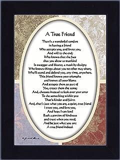 Vintage A True Friend, Poem about true friendship, 7x9 77933BC
