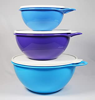Tupperware Thatsa Bowls 3 piece Set in Salt Water Taffy, Raindrop and Berry Bliss colors New 2016