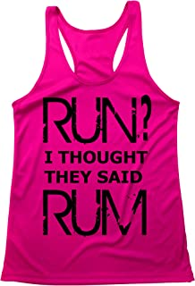 Quick Dri - Flow Fit - Light Weight - Running Tank Top - Run? I Thought They Said Rum