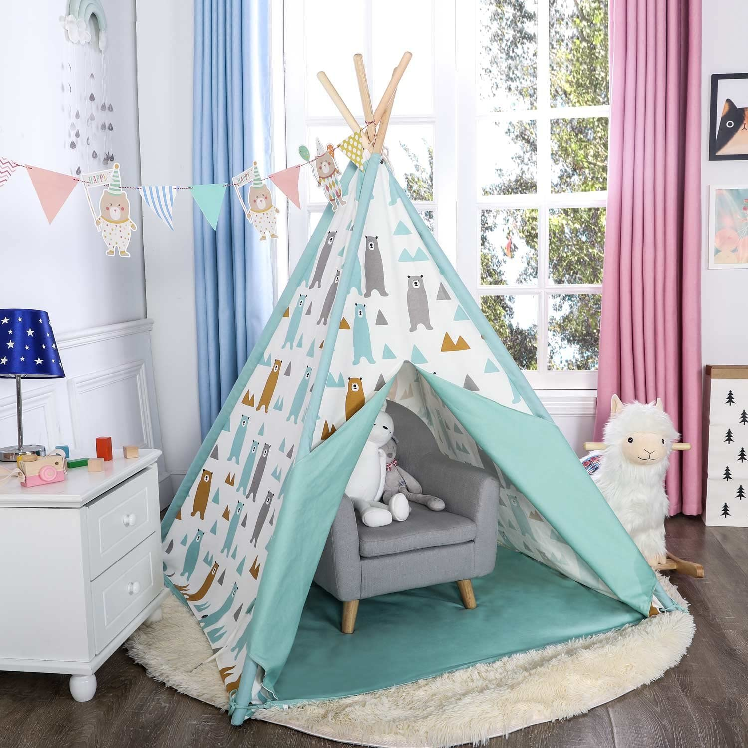 Asweets Kids Teepee Tent for Kids Boys & Girls Kids Play