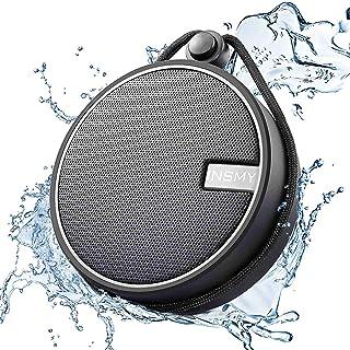 INSMY IPX7 Waterproof Shower Bluetooth Speaker, Portable Wireless Outdoor Speaker with HD..