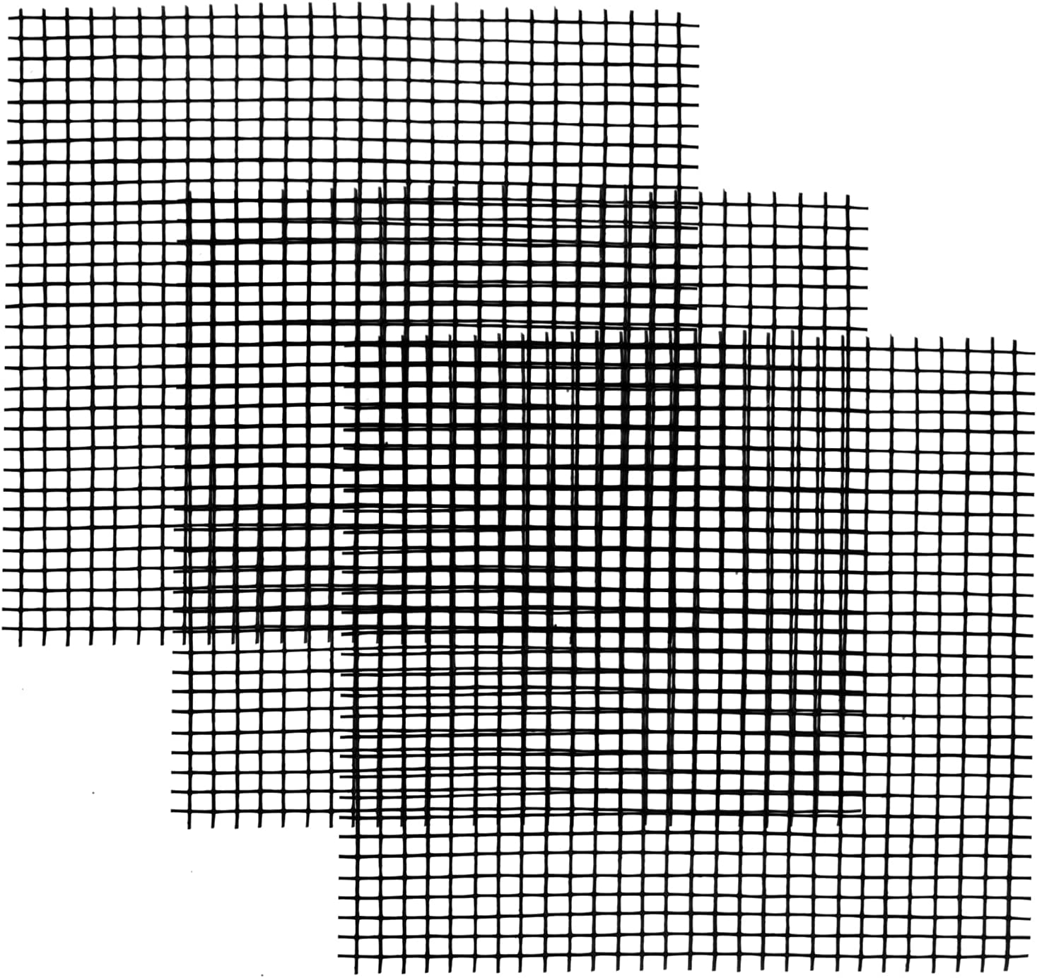 400 Pcs Pot Hole Mesh Pad, 2 Inch Square Planter Flower Pots Hole, Polyamide Drainage Mesh Hole Screens, Mesh Pads for Pots, Drainage Netting Pot Bottom Grid Mat, Keep Soil from Flowing Away (Black)