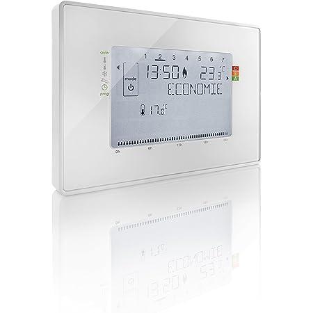 Somfy 2401243 - Termostato programable con Cable Contacto seco | 4 Zonas posibles | Compatible con Tahoma