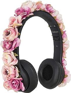 Rosé Rockers Fashion Headphones for Women: Bluetooth, Wireless, Foldable, Lightweight, Noise Cancelling Headphones (Rose)