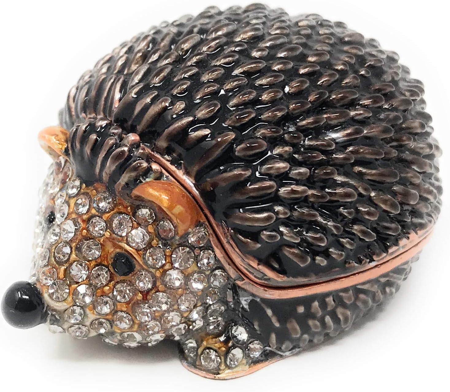 23. Enameled Hedgehog Mini Trinket Box