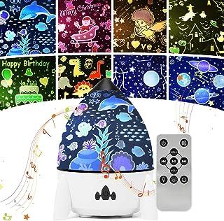 Veilleuse Enfant Bebe Veilleuse Etoile Projection 8 Thème Rotation à 360° Lampe Etoile Projecteur LED Lampe de Chevet avec...