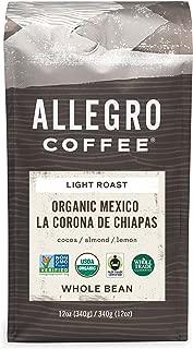 Allegro Coffee Organic Mexico Whole Bean Coffee, 12 oz