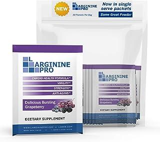 Sponsored Ad - L-arginine Pro Supplement ON-The-GO Single Serve Travel Packets - 5,500mg of L-arginine Plus 1,100mg L-Citr...