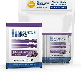 L-arginine Pro, 1 Now L-arginine Supplement - 5,500mg of L-arginine Plus 1,100mg L-Citrulline + Vitamins & Minerals for Cardio Health, Blood Pressure (Grape Berry 30 Packets)