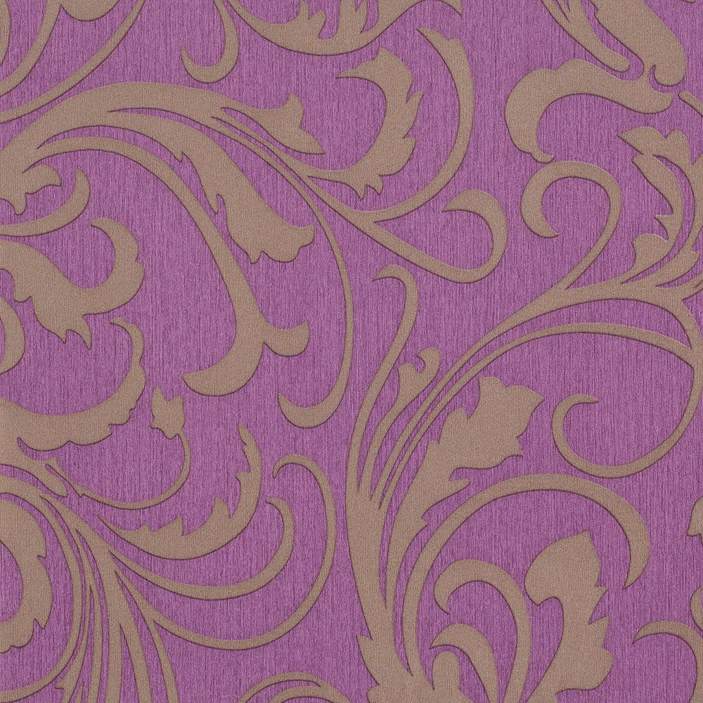 Purple Grey Floral Wallpaper for Max 70% OFF Walls - Double Spl Special price Roll Adore