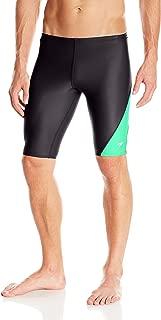 Speedo Men and Boys' Jammer Swimsuit-PowerFLEX Eco Revolve Splice, Green, 32