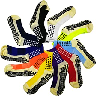 KEESOX Upgraded Version Professional Anti-Slip Soccer Socks - Anti Skip Sport Socks Basketball Sock Running Socks