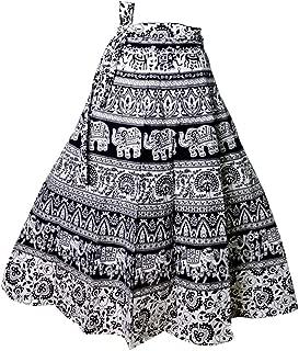 Indian Dresses Store FabnFab Women's Crepe Skirt (GDS 2018-P, Blue)