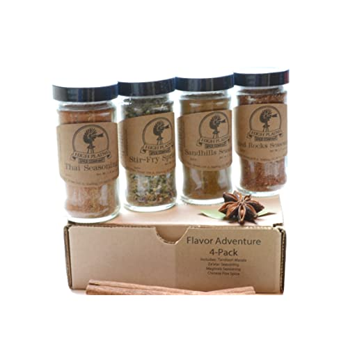 74db95c4d1d2 Flavor Adventure 4-Pack Gift Set of 4 ~ Gift Set by High Plains Spice