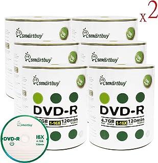 Smart Buy 1200 Pack DVD-R 4.7gb 16x Logo Blank Data Video Movie Recordable Disc, 1200 Disc 1200pk