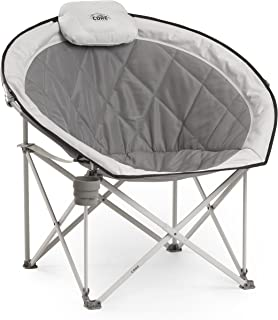 CORE Folding Oversized Padded Moon Round Saucer Chair Carry Bag