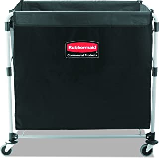 Rubbermaid Commercial Collapsible X-Cart, Steel, 8 Bushel Cart, 36