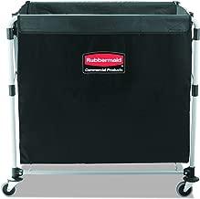 Rubbermaid Commercial Collapsible X-Cart, Steel, 8 Bushel Cart, 36