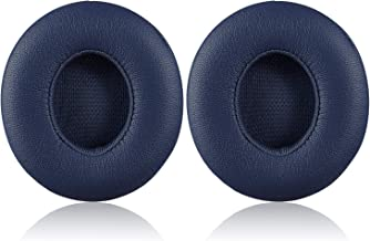 Solo 2/3 Wireless Earpads - JECOBB Replacement Ear Cushion Pads with Protein Leather and Memory Foam for Beats Solo 2.0/3.0 Wireless On Ear Headphones ONLY (Navy Blue)