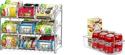 wholesale Simple outlet sale 2021 Houseware Stackable Can Rack Organizer + Kitchen Bin Organizer online