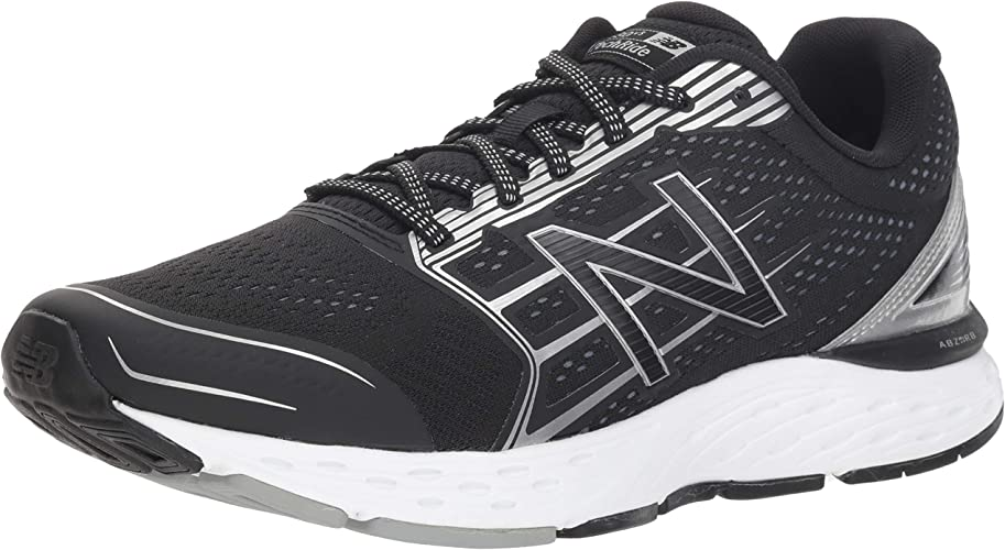 New Balance Men's 680v5 Cushioning Running chaussures, noir argent, 11 4E US