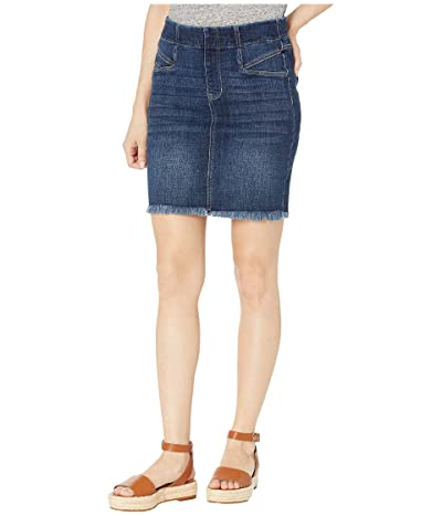 Liverpool 17 Cat Eye Pocket Pull-On Skirt in Vintage Denim in Lowry (Lowry) Women