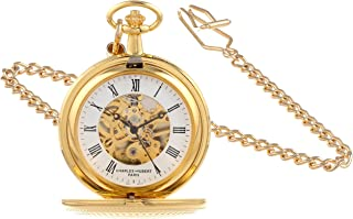 Charles-Hubert, Paris 3556 Gold-Plated Mechanical Pocket Watch