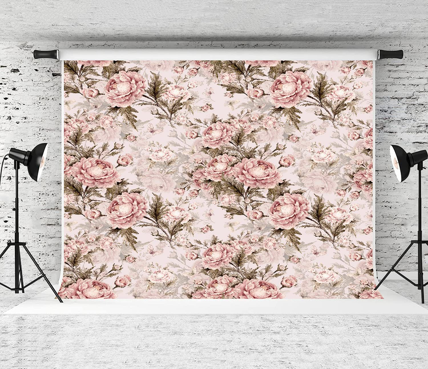 JISMUCI Ranking TOP11 Photography Background Seamless Pattern Max 72% OFF Watercolor Roses