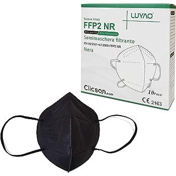zhejiang luyao electronics technolo mascherine ffp2 nere modello kn95 filtrante al 95% certificate ce 2163 ffp2 en 149:2001 + a1:2009 - 10 pezzi ly-n900-n909
