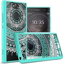 CoverON Hard Slim Fit ClearGuard Series for Sony Xperia XA2 Case, Teal Mandala Design