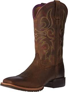 أحذية Ariat Hybrid Rancher الغربية - حذاء عمل حريمي جلدي بمقدمة مربعة